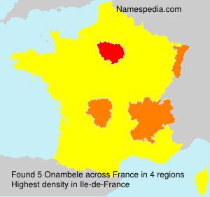 Surname Onambele in France