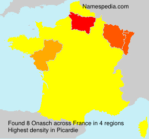 Familiennamen Onasch - France