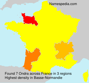 Surname Ondra in France