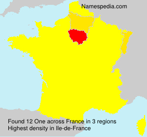 Surname One in France