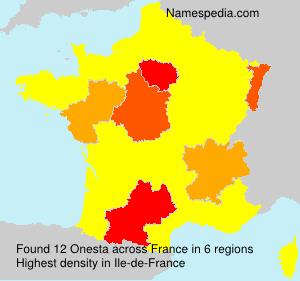 Surname Onesta in France