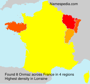 Surname Onmaz in France