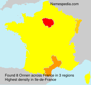 Surname Onnen in France