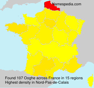 Surname Ooghe in France