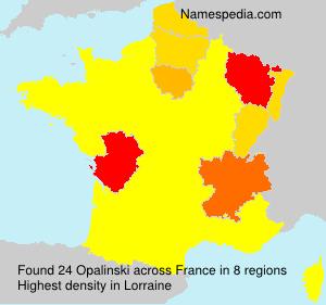 Familiennamen Opalinski - France