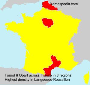 Familiennamen Opart - France