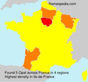 Familiennamen Opat - France