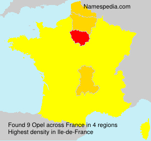 Surname Opel in France