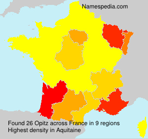 Surname Opitz in France