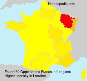 Surname Oppe in France