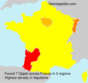 Surname Oppel in France