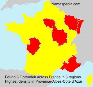 Surname Oprendek in France