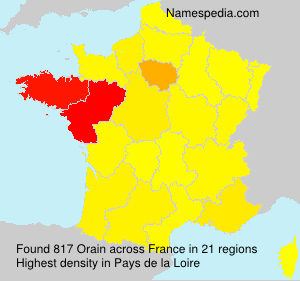 Surname Orain in France
