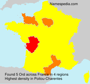 Surname Ord in France