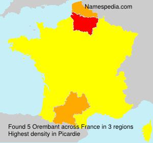 Familiennamen Orembant - France