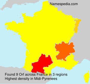 Surname Orf in France