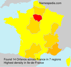 Surname Orfanos in France