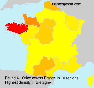 Surname Oriac in France