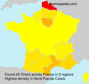 Surname Orient in France
