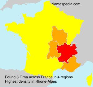 Surname Orna in France
