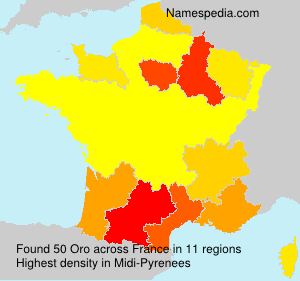 Familiennamen Oro - France