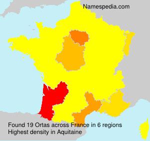 Familiennamen Ortas - France
