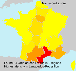 Surname Ortin in France