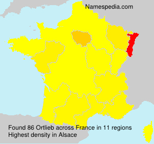 Familiennamen Ortlieb - France