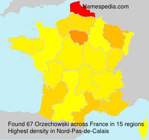 Surname Orzechowski in France