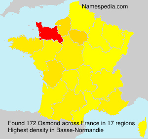 Familiennamen Osmond - France