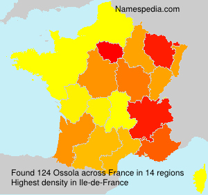 Surname Ossola in France