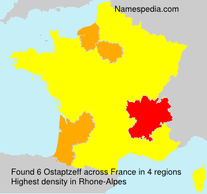 Surname Ostaptzeff in France