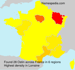 Surname Ostin in France