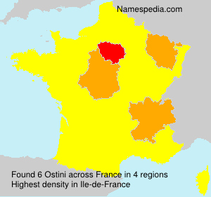Surname Ostini in France