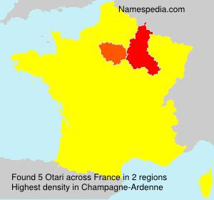 Surname Otari in France