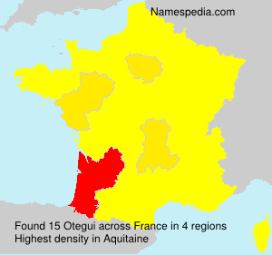 Surname Otegui in France