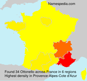 Surname Ottonello in France