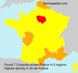 Surname Ouaarab in France