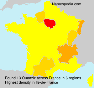 Surname Ouaaziz in France