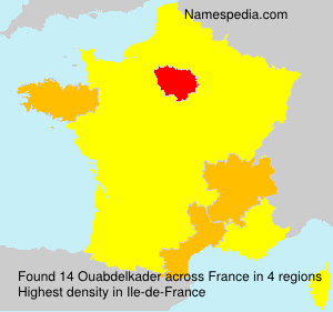 Surname Ouabdelkader in France