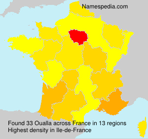 Surname Oualla in France