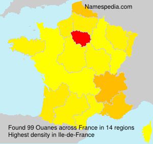 Surname Ouanes in France