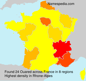 Surname Ouared in France