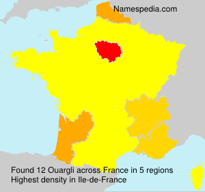 Surname Ouargli in France