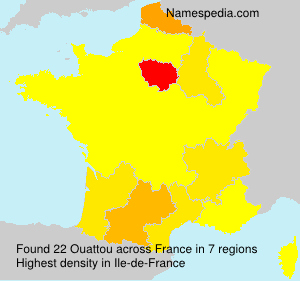 Surname Ouattou in France