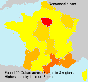 Surname Oubad in France