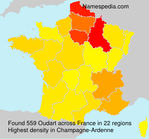 Surname Oudart in France