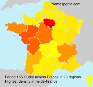 Surname Oudry in France