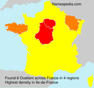 Surname Ouellani in France