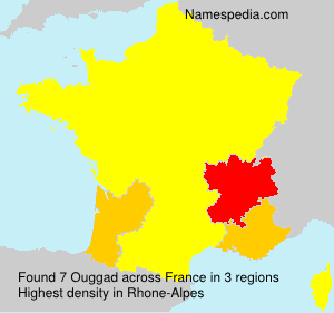 Surname Ouggad in France